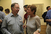 RENEE GIMPEL AND SANDRA MILLER. Gimpel Fils 60th Anniversary Exhibition. Davies St. London. 27 July 2006. ONE TIME USE ONLY - DO NOT ARCHIVE  © Copyright Photograph by Dafydd Jones 66 Stockwell Park Rd. London SW9 0DA Tel 020 7733 0108 www.dafjones.com