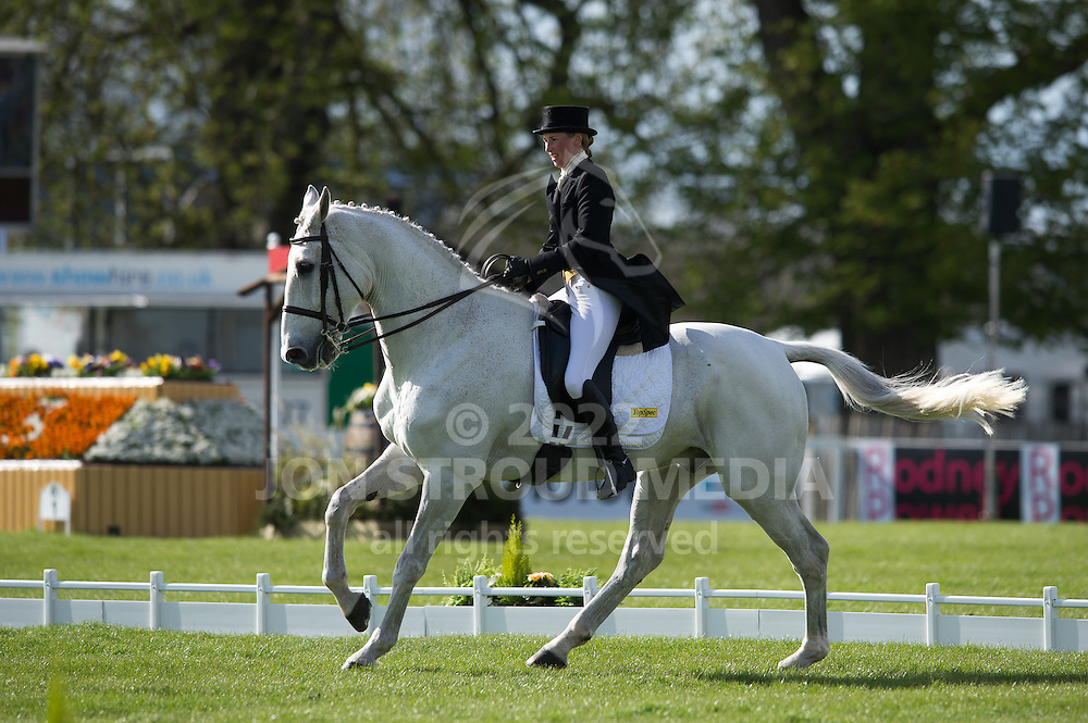 Louisa Milne Home (GBR) & King Eider - Dressage - Mitsubishi Motors Badminton Horse Trials - CCI4* - Badminton, Gloucestershire, United Kingdom - 03 May 2013
