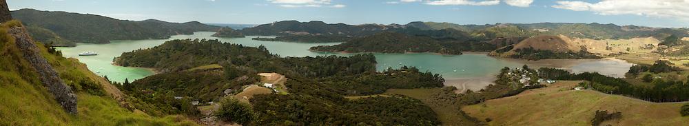 Whangaroa Harbor panoramic, New Zealand
