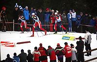 Langrenn<br /> Sprint<br /> FIS World Cup Verdenscup<br /> Kuusamo<br /> 25.11.2006<br /> Foto: Gepa/Digitalsport<br /> NORWAY ONLY<br /> <br /> Johan Kjølstad, Trond Iversen (NOR) und Andrew Newell (USA)
