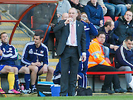Brentford Manager Mark Warburton during the Sky Bet League 1 match at the Matchroom Stadium, London<br /> Picture by Mark D Fuller/Focus Images Ltd +44 7774 216216<br /> 15/03/2014