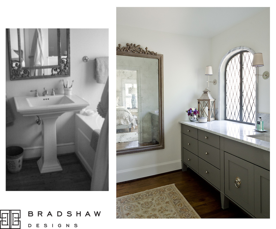 Charming Guest Suite beckons one to stay a while in this exquisite Guest room. Bath features custom marble chair rail framing the vintage leaded glass diamond pane window. Carrara marble counters and splash and shower walls. Existing wood flooring works beautifully.