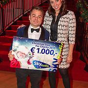 NLD/Hilversum/20151207- Sky Radio's Christmas Tree for Charity, Roel van Velzen en Roos Moggre