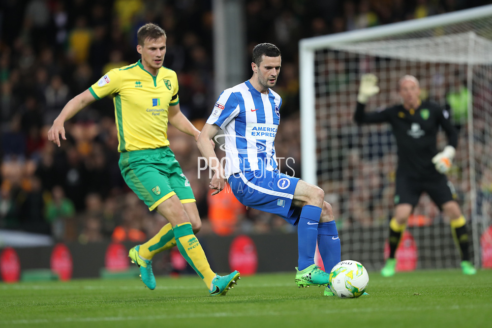 Brighton & Hove Albion winger Jamie Murphy (15) during the EFL Sky Bet Championship match between Norwich City and Brighton and Hove Albion at Carrow Road, Norwich, England on 21 April 2017.