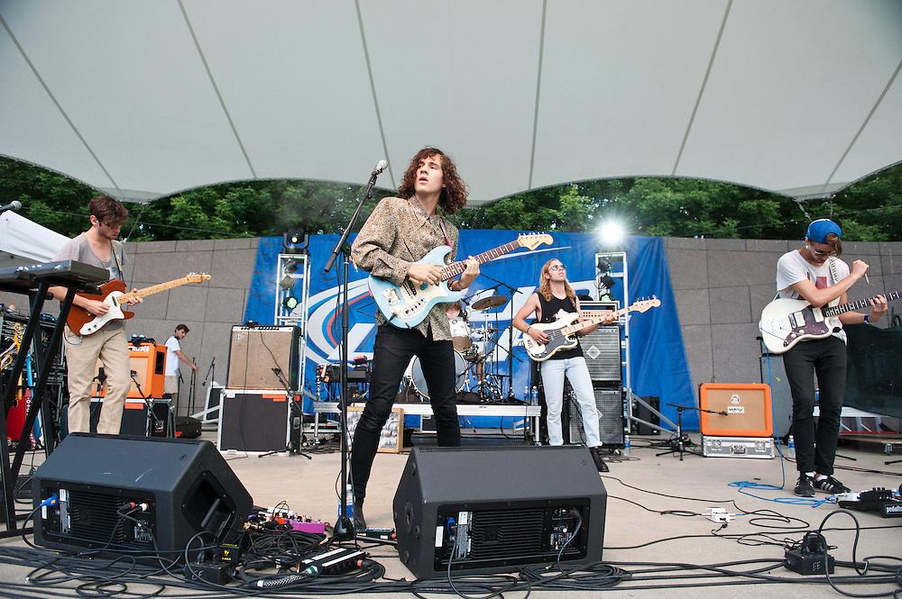 Oberhofer performs at Bunbury Music Festival at Sawyer Point in Cincinnati, Ohio on July 13, 2013.
