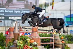 LOPEZ LIZARZO Carlos Enrique (COL), Admara<br /> Tryon - FEI World Equestrian Games™ 2018<br /> FEI World Individual Jumping Championship<br /> Third cometition - Round A<br /> 3. Qualifikation Einzelentscheidung 1. Runde<br /> 23. September 2018<br /> © www.sportfotos-lafrentz.de/Stefan Lafrentz