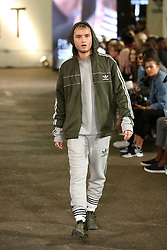 Model Rafferty Law during 'Streets of EQT', a street style presentation to celebrate Hailey Baldwin's new Adidas EQT campaign during London Fashion Week SS18 held at The Old Truman Brewery, London. Picture Date: Friday 15 September. Photo credit should read: Isabel Infantes/PA Wire
