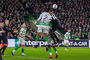 Christopher Jullien of Celtic FC clears from a corner during the Europa League match between Celtic and FC Copenhagen at Celtic Park, Glasgow, Scotland on 27 February 2020.