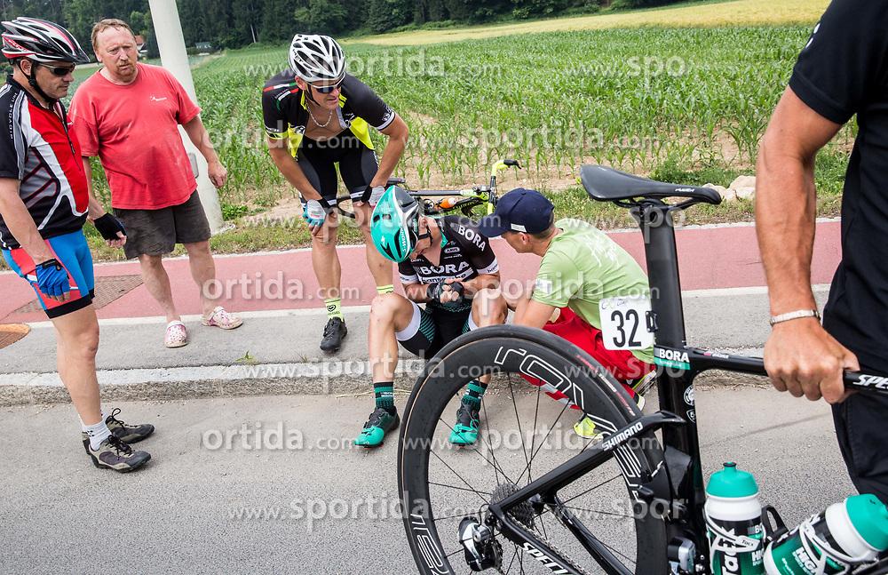 Injured Erik Baska (SVK) of Bora - Hansgrohe during Stage 2 of 24th Tour of Slovenia 2017 / Tour de Slovenie from Ljubljana to Ljubljana (169,9 km) cycling race on June 16, 2017 in Slovenia. Photo by Vid Ponikvar / Sportida