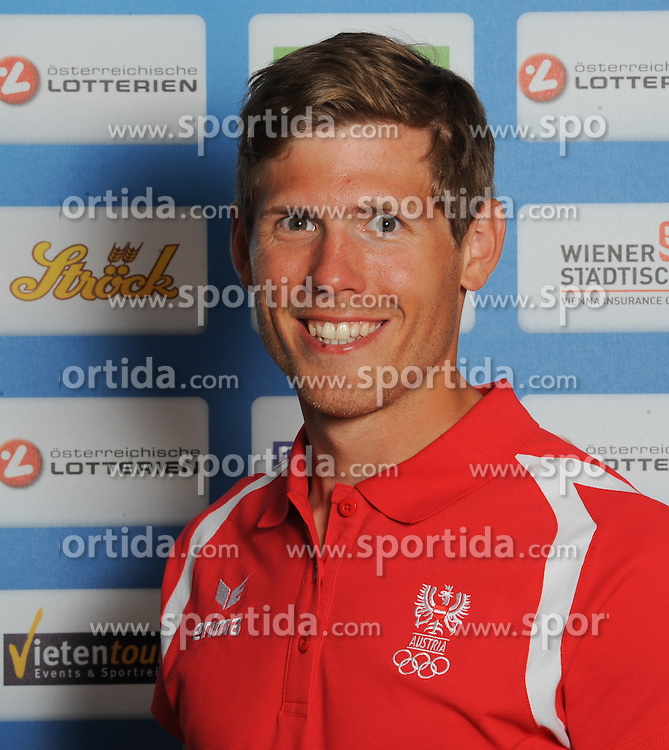 17.07.2016, Hotel Mariott, Wien, AUT, Olympia, Rio 2016, Einkleidung OeOC, im Bild Sieber Paul (Rudern) // during the outfitting of the Austrian National Olympic Committee for Rio 2016 at the Hotel Mariott in Wien, Austria on 2016/07/17. EXPA Pictures © 2016, PhotoCredit: EXPA/ Erich Spiess