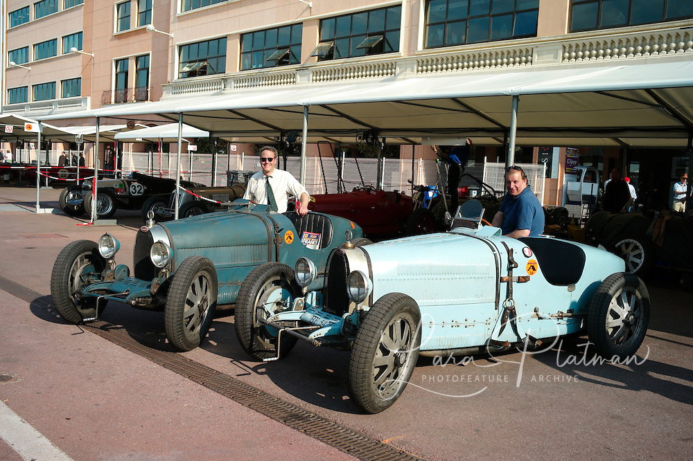 7th Grand Prix de Monaco Historique Duncan Pittaway and Tim Dutton in their Bugatti Type 35 1925, drove all the way from the UK. Accross the Italian Alps over 2 and a half days