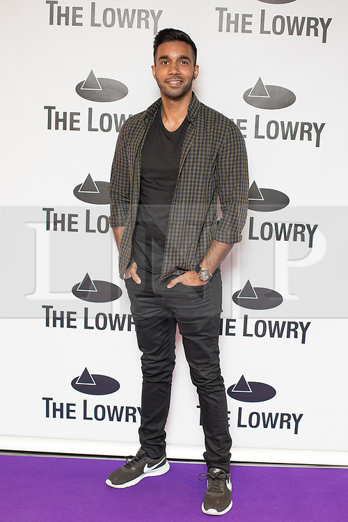 © Licensed to London News Pictures . 30/08/2017 . Salford , UK . Rishi Nair . Purple carpet photos of celebrities, actors and invited guests arriving for the press night of the musical comedy , Addams Family , at the Lowry Theatre . Photo credit : Joel Goodman/LNP
