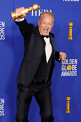 January 5, 2020, Beverly Hills, Kalifornien, USA: Stellan Skarsgard mit dem Preis für den Besten Schauspieler in einer Nebenrolle in 'Chernobyl' bei der Verleihung der 77. Golden Globe Awards im Beverly Hilton Hotel. Beverly Hills, 05.01.2020 (Credit Image: © Future-Image via ZUMA Press)