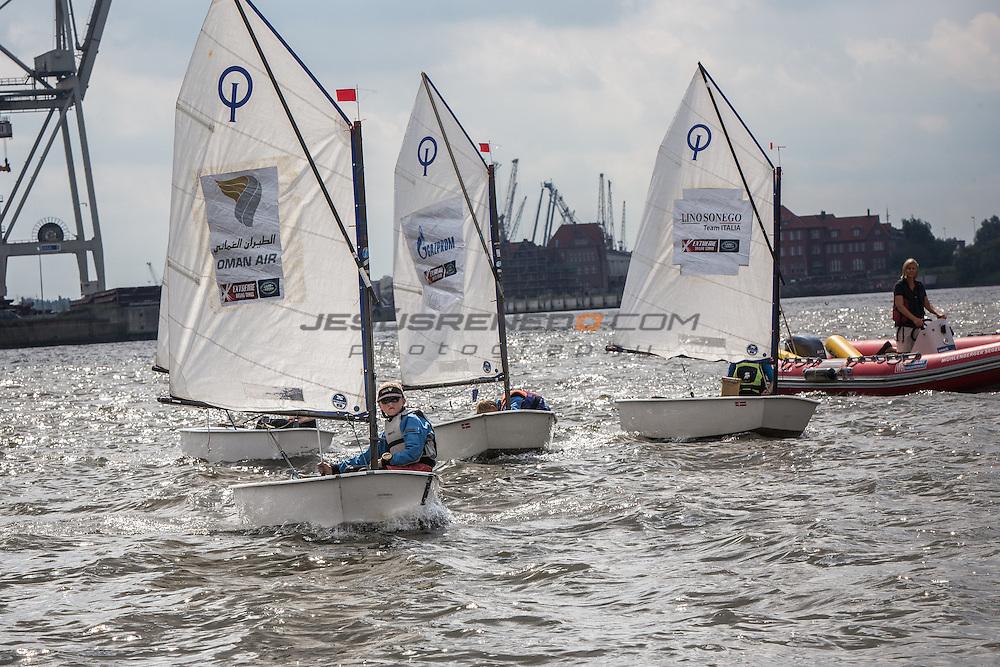 &quot;2015 Extreme Sailing Series - Act 5 - Hamburg<br /> Young Sailor Optimist Racing<br /> Credit Jesus Renedo&quot;