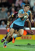 May 25th 2011: Josh Dugan of the Blues runs the ball during game 1 of the 2011 State of Origin series at Suncorp Stadium in Brisbane, Australia on May 25, 2011. Photo by Matt Roberts/mattrIMAGES.com.au / QRL