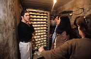 culinary school  Chateau du fay   Joigny - France making Chablis cheese in a farm  Chablis - France
