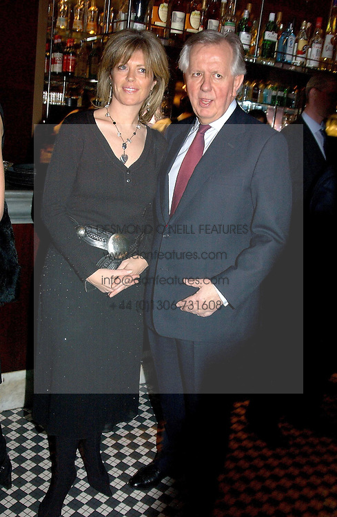 STEVEN &amp; EMMA NORRIS at a fund raising dinner hosted by Marco Pierre White and Frankie Dettori's in aid of Conservative Party's General Election Campaign Fund held at Frankie's No.3 Yeoman's Row,&frac34;London SW3 on 17th January 2005.<br /><br />NON EXCLUSIVE - WORLD RIGHTS
