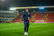 Ben Pearson (4) of Preston North End FC arriving at Oakwell Stadium before the EFL Sky Bet Championship match between Barnsley and Preston North End at Oakwell, Barnsley, England on 21 January 2020.