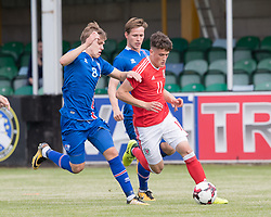 RHYL, WALES - Saturday, September 2, 2017: Wales' Jack Vale in action during an Under-19 international friendly match between Wales and Iceland at Belle Vue. (Pic by Gavin Trafford/Propaganda)