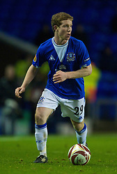 LIVERPOOL, ENGLAND - Thursday, December 17, 2009: Everton's Adam Forshaw in action against FC BATE Borisov during the UEFA Europa League Group I match at Goodison Park. (Pic by David Rawcliffe/Propaganda)