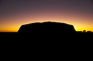 Sunrise on Christmas morning over Ayers Rock