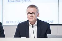 27 MAR 2018, BERLIN/GERMANY:<br /> Bernd Hirsch, Finanzvorstand von Bertelsmann, Bertelsmann Bilanzpressekonferenz, Konzernrepraesentanz Berlin, Unter den Linden 1<br /> IMAGE: 20180327-01-011