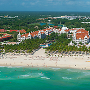 Aerial view of the Riu Palace on Playacar. Playa del Carmen. Mexico