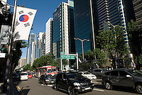 Teheran avenue, the South Seoul Central Business District, South Korea. 2009