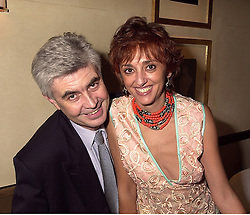 MR & MRS TONY HAMBRO members of the banking family, at a party in London on 3rd October 2000.OHN 46