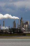 Photo of refinery smokestack in Anacortes, Washington