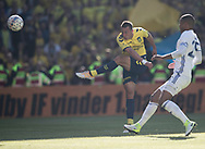 FODBOLD: Kamil Wilczek (Brøndby IF) afslutter under finalen i DBU Pokalen mellem FC København og Brøndby IF den 25. maj 2017 i Telia Parken, København. Foto: Claus Birch