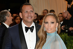 Jennifer Lopez dressed by Valentino and Alex Rodriguez arriving at the Costume Institute Benefit at The Metropolitan Museum of Art celebrating the opening of Rei Kawakubo/Comme des Garcons: Art of the In-Between in New York City, NY, USA, on May 1, 2017. Photo by Aurore Marechal/ABACAPRESS.COM