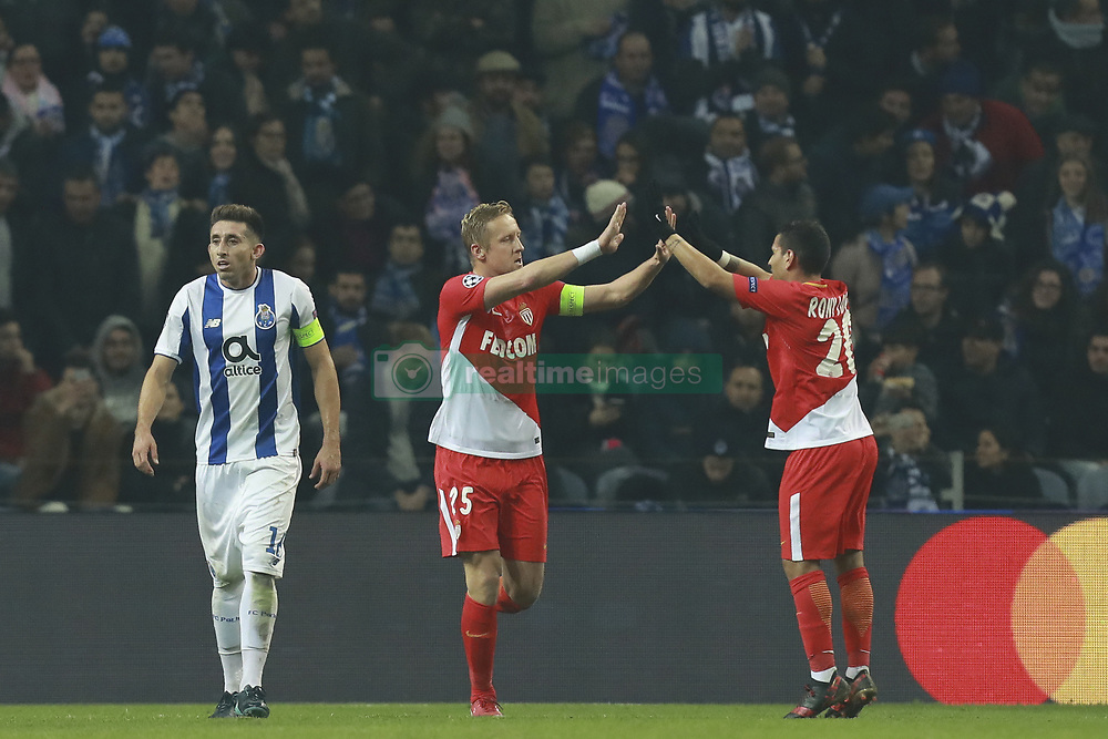 December 6, 2017 - Na - Porto, 06/12/2017 - Football Club of Porto received, this evening, AS Monaco FC in the match of the 6th Match of Group G, Champions League 2017/18, in Estádio do Dragão. Kamil Glik celebrates goal  (Credit Image: © Atlantico Press via ZUMA Wire)