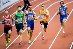 Pavel Maslak of Czech Republic, Brian Gregan of Ireland, Mateo Ruzic of Croatia, Tony van Diepen of Netherlandsand Marco Lorenzi of Italy  compete in the Men's 400 metres heats on day one of the 2017 European Athletics Indoor Championships at the Kombank Arena on March 3, 2017 in Belgrade, Serbia. Photo by Vid Ponikvar / Sportida