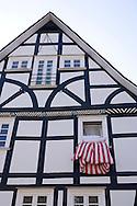 Europe, Germany, North Rhine-Westphalia, the Siegerland region, half-timbered house in the city of Freudenberg.....Europa, Deutschland, Nordrhein-Westfalen, Siegerland, Fachwerkhaus in Freudenberg...