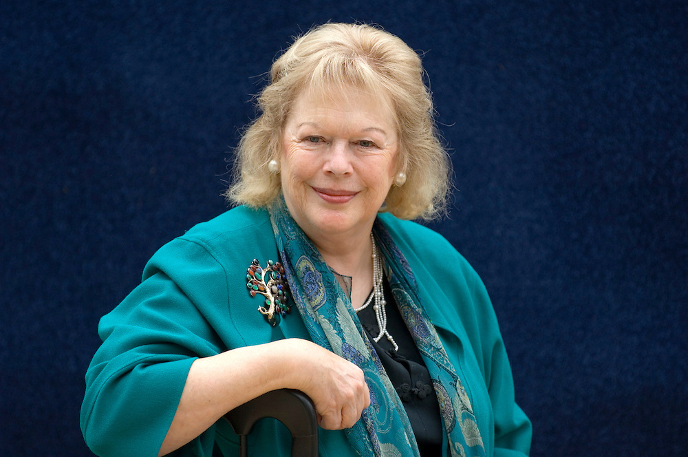 EDINBURGH, SCOTLAND - AUGUST26. Historian Antonia Fraser poses during a portrait session held at Edinburgh Book Festival on August 26, 2006  in Edinburgh, Scotland. (Photo by Marco Secchi/Getty Images).