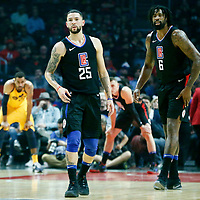 30 November 2017: LA Clippers guard Austin Rivers (25) is seen next to LA Clippers center DeAndre Jordan (6) during the Utah Jazz 126-107 victory over the LA Clippers, at the Staples Center, Los Angeles, California, USA.