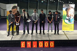 Image ©Licensed to i-Images Picture Agency. 09/10/2014. City Hall, London, United Kingdom. <br /> <br /> Representatives from youth clubs around London take to the stage at City Pitch 2014 and present their case to a panel of judges, to win £1000 from Santander for their club, in City Hall, London, UK.<br /> <br /> Picture by Ben Stevens / i-Images