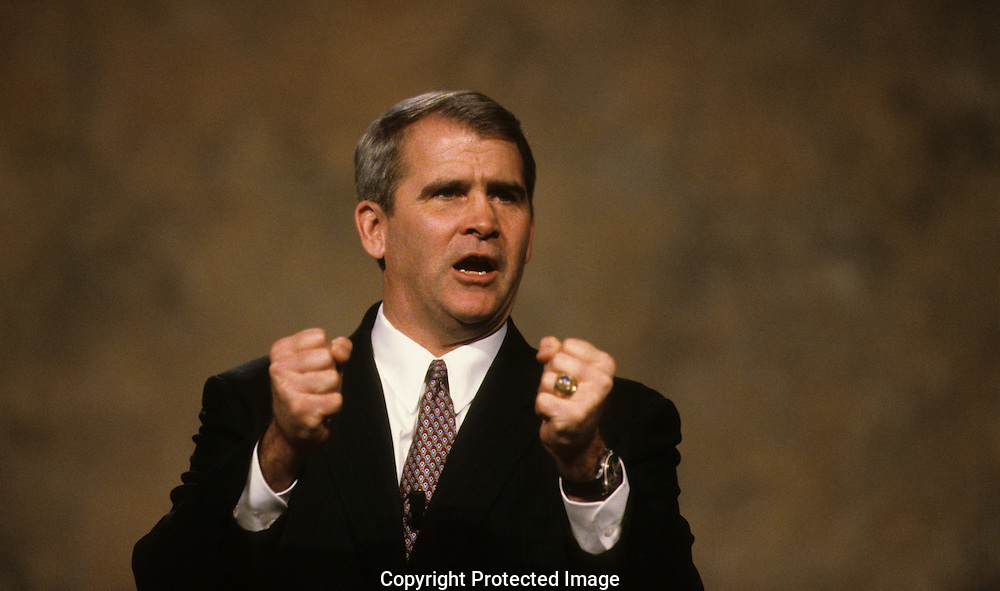 Oliver North campaigning  in May 1984..Photograph by Dennis Brack bb24