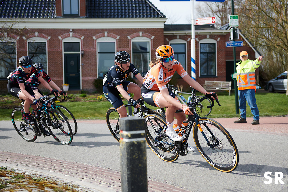 Skylar Schneider (USA) at Healthy Ageing Tour 2018 - Stage 4, a 143 km road race starting and finishing in Winsum on April 7, 2018. Photo by Sean Robinson/Velofocus.com