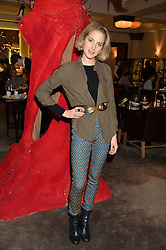TESS WARD at the unveiling of a Very Special Malone Souliers Christmas Tree, In Support Of Starlight Children's Foundation held at The Club Cafe Royal, Regent Street, London on 2nd December 2015.