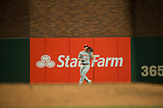 Cincinnati Reds right fielder Scott Schebler (43) makes a catch against the San Francisco Giants at AT&T Park in San Francisco, California, on May 11, 2017. (Stan Olszewski/Special to S.F. Examiner)