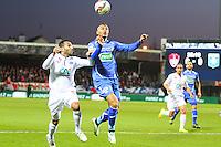 Youssef ADNANE / Remi MULUMBA - 05.03.2015 - Brest / Auxerre - 1/4Finale Coupe de France<br />Photo : Maxime Kerriou / Icon Sport