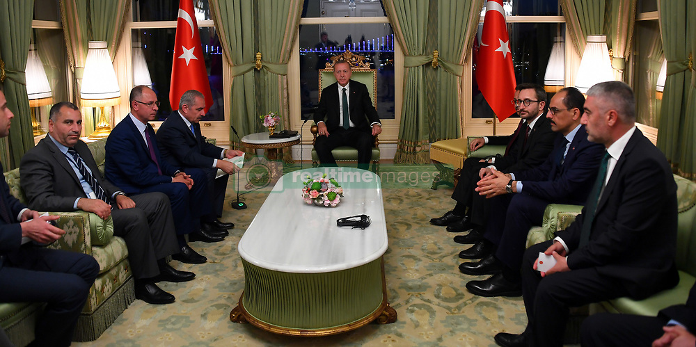 May 4, 2019 - Istanbul, Istanbul, Turkey - Palestinian Prime Minister Mohammad Ishtayeh meets with Turkish President Recep Tayyip Erdogan in Istanbul, Turkey, May 3, 2019  (Credit Image: © Prime Minister Office/APA Images via ZUMA Wire)