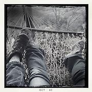 hipstamatic feet in hammock
