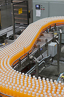 Production line in a bottling factory