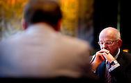 DEN HAAG - Oud-minister Gerrit Zalm verschijnt voor een commissie van de Eerste Kamer die een parlementair onderzoek doet naar de verzelfstandiging van overheidsdiensten de afgelopen 20 jaar. ANP ROBIN UTRECHT