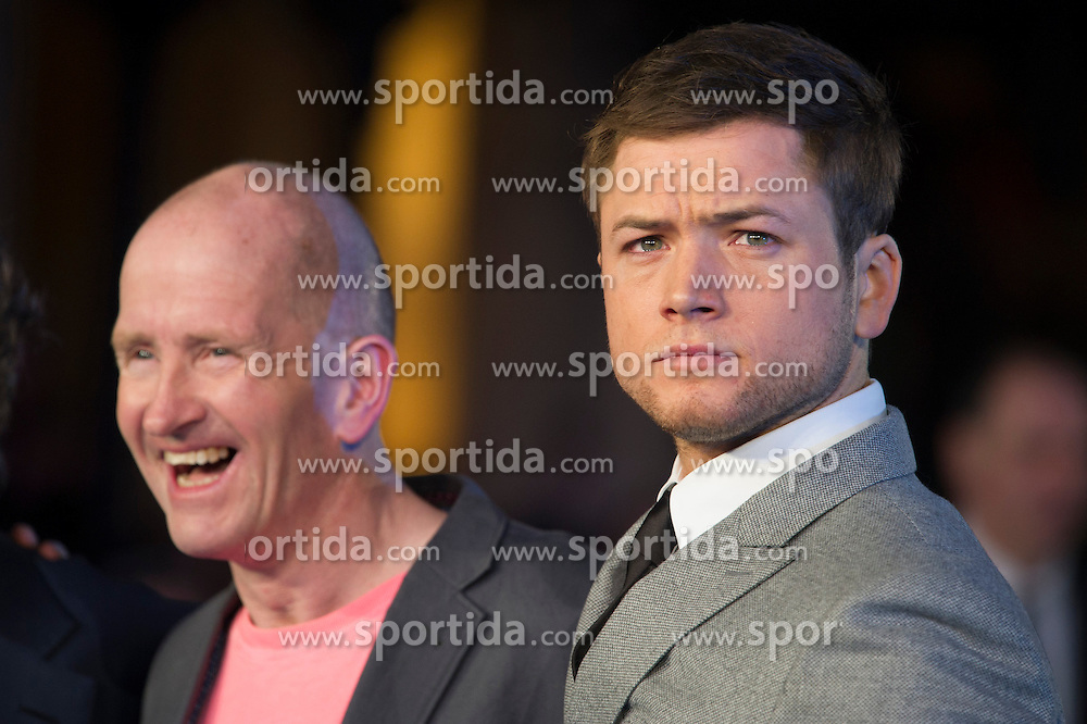 Eddie &quot;The Eagle&quot; Edwards and Taron Egerton attends the European premiere for &quot;Eddie the Eagle at Odeon Leicester Square in London, 17.03.2016. EXPA Pictures &copy; 2016, PhotoCredit: EXPA/ Photoshot/ Euan Cherry<br /> <br /> *****ATTENTION - for AUT, SLO, CRO, SRB, BIH, MAZ, SUI only*****