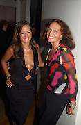Jade Jagger and Diane von Furstenberg, Garrard 1st Anniversary party for their new shop, Albermarle St. 21 September 2003. © Copyright Photograph by Dafydd Jones 66 Stockwell Park Rd. London SW9 0DA Tel 020 7733 0108 www.dafjones.com