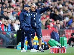 "Middlesbrough manager Tony Pulis and David Kemp during the FA Cup, third round match at the Riverside Stadium, Middlesbrough.PRESS ASSOCIATION Photo. Picture date: Saturday January 6, 2018. See PA story SOCCER Middlesbrough. Photo credit should read: Richard Sellers/PA Wire. RESTRICTIONS: EDITORIAL USE ONLY No use with unauthorised audio, video, data, fixture lists, club/league logos or ""live"" services. Online in-match use limited to 75 images, no video emulation. No use in betting, games or single club/league/player publications."